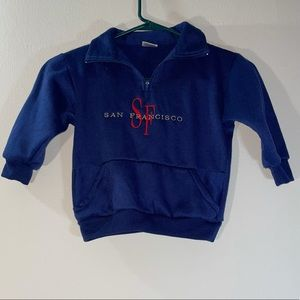 Made In USA San Francisco Half Zip Fleece Pullover